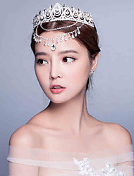 Korean Wedding/Engagement/Party  Headpiece Tiara with Crysdal