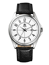 Men's Watch Japanese Quartz Fashion Watch Leather Band Wrist watch