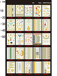 Tattoo Stickers Flowers Christmas / New Year Others Paper  22*16*0.1cm 10pcs set