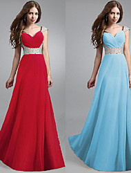 NZZQ Women's Solid Color Blue / Red Dresses , Vintage / Sexy / Casual / Party Straps Sleeveless