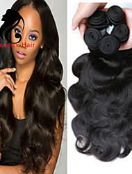 "Mix Size 3Pcs/Lot 8""-26""Brazilian Virgin Hair Body Wave ,Natural Black Color ,Unprocessed Virgin Human Hair Weaves"