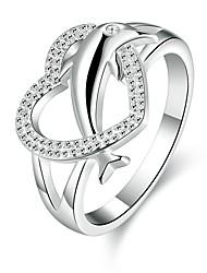 Ringen Dagelijks Sieraden Verzilverd Ring 1 stuks,7 8 Zilver
