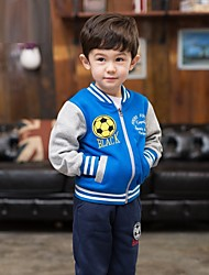 "Boy's Organic Cotton Hoodie Clothing Set of 2pcs, Winter / Fall Long Sleeve ""FOOTBALL"""