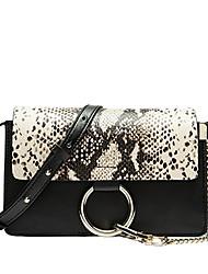 Paste® Fashion Vintage Classic Design Snake Print Real Leather Women Bag