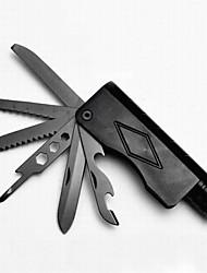 aleación de aluminio abrebotellas / cuchillos / llaves / sierras conveniente 11 método llevado multitools linterna de camping al aire
