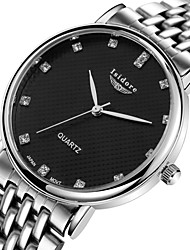 Men's Wrist watch Water Resistant / Water Proof Quartz Stainless Steel Band Silver