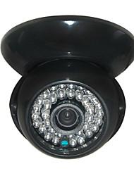 cctv 1200tvl HD CMOS de Sony 36pcs cúpula de interior de gran angular cámara de seguridad estuche negro leds IR-corte 3.6mm