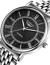 Men's Women's Couple's Fashion Watch Casual Watch Water Resistant / Water Proof Quartz Stainless Steel Band Silver