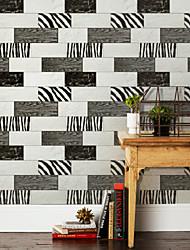 Geométrica Papel pintado Retro Revestimiento de pared , PVC/Vinilo 3D wallpaper