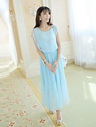 Women's Summer New Beads Chiffon Dress