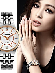 SKMEI® Women's Luxury Slim Stainless Steel Quartz Watch Cool Watches Unique Watches Fashion Watch