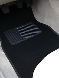 TIROL Universal 4 PCS Set Heavy Duty Carpet Mat With Vinyl Heel Pad Rubber Car Floor Mats Front & Rear