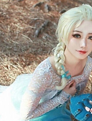Anime Wigs Ice and Snow Country with Money Aisha Shallow Gold Synthetic Wigs