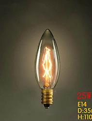 c35 candela gialla E14 40w 220v-240v piccola vite lampadina edison