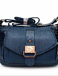 Women PU Doctor Shoulder Bag - Blue
