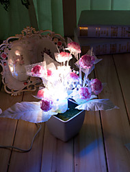 Valentine'S Day Gift Cartoon Light-Operated flower flower vase Table Lamp Light Led(Random Color)
