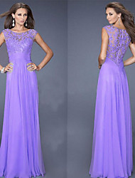 family  Women's Lace Blue / Purple Dresses , Sexy / Party Round Sleeveless