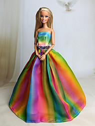 Party/Evening Dresses For Barbie Doll Red / Green / Blue Dresses For Girl's Doll Toy