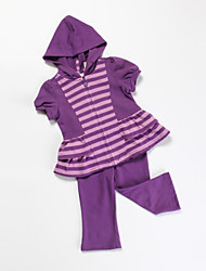 Girl's Clothing Set,Cotton All Seasons Purple