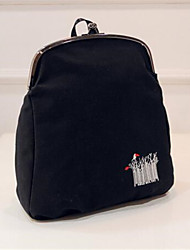 Women PU Bucket Backpack - White / Red / Black