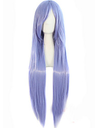 Popular Anime Female Wig 80cm Mauve High Temperature Long Straight Wire Wig