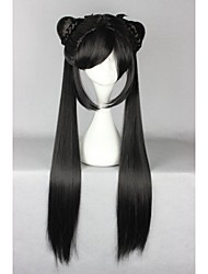 Lolita Wigs Sweet Lolita Lolita Long Black Lolita Wig 80 CM Cosplay Wigs Solid Wig For Women