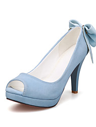 Women's Shoes Stiletto Heel Heels / Peep Toe / Platform Sandals Office & Career / Party & Evening / DressBlack / Blue
