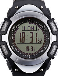 Da uomo Orologio da polso DigitaleLCD / Altimetro / Compass / Termometri / Calendario / Cronografo / Resistente all'acqua / Due fusi