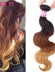 """1 pc / lot 16 """"-24"""" 7a 3t péruvien vierge vague de corps de cheveux de cheveux humains trames de 100% cheveux remy péruvien non"""