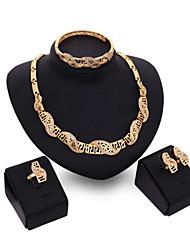 Vintage / Niedlich / Party / Büro / Freizeit-Damen-Halskette / Ohrring / Armband / Ring(Vergoldet / Legierung / Zirkonia)