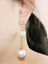 Drop Earrings Pearl Imitation Pearl Alloy Gray Fuchsia Green Pink Royal Blue Jewelry 2pcs