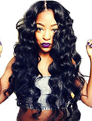 Brazilia Deep Wave Full Lace Wig 22inch Natual Black Color 100% Human Hair Glueless Full Lace Deep Body Wave Wigs