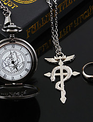 Jewelry Inspired by Fullmetal Alchemist Edward Elric Anime Cosplay Accessories Necklace Black / Silver Alloy Male