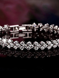 S925 Pure Stering Silver AAA Zircon ROME Bracelet,Fine Jewelry (length:17.5cm)Imitation Diamond Birthstone Christmas Gifts