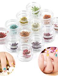 Цветы - Стразы для ногтей - 12PCS - 3*3*2cm - Прочее - Пальцы рук