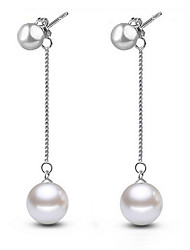 Earring Stud Earrings Jewelry Women Wedding / Party / Daily Pearl / Sterling Silver 1set Silver