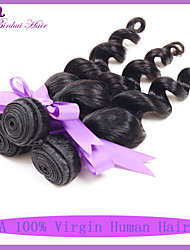 7A Indian virgin loose wave hair 3pcs lot Unprocessed loose hair bundles Cheap loose wave hair weave extensions