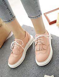 Zapatos de mujer - Plataforma - Plataforma / Creepers / Punta Cerrada - Oxfords - Exterior / Vestido / Casual - Semicuero -Azul / Rosa /