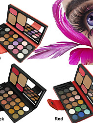 New 18 Eyeshadows 2 Face Powder Concealer 2 Blush Busher New Eye Shadow Palette Makeup Sets(Assorted Colors)