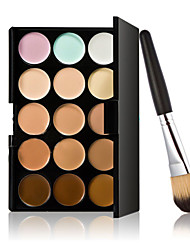 Makeup Brush Set 15 Color Concealer+Makeup Brush