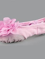 Non Customizable Kids' Dance Shoes Ballet Leather / Canvas Flat Heel Multi-color