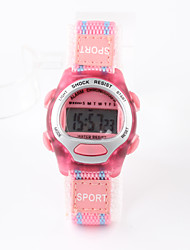 Fashion Pink Nylon With Female Children's Electronic Watch Cool Watches Unique Watches