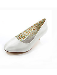 Women's Shoes Silk Spring / Summer / Fall Heels / Round Toe Wedding / Dress / Party & Evening Low HeelBlack / Pink / Purple / Red / Ivory