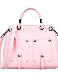 Women PU Baguette Shoulder Bag - Pink / Blue
