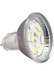 2w gu4 led spotlight mr11 9 smd 5730 200-250 lm cool blanc décoratif dc 12 v