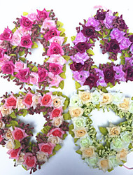 Simulation Flower Heart-Shaped Wreath Home Decoration