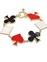 Fashion Jewelry Drip Playing Cards Bracelet