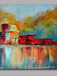 Warm House Abstract Style Oil Painting Whosale Price