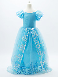 Skirt Cosplay Costumes Princess Cinderella Fairytale Movie Cosplay Blue Dress Halloween Christmas Carnival New Year Children's DayKid