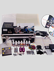 3 Guns BaseKey Tattoo Kit K306 Machine With Power Supply Grips Cups Needles(Ink not included)